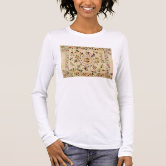 Rumal: square embroidery cover showing Punjabi dan Long Sleeve T-Shirt