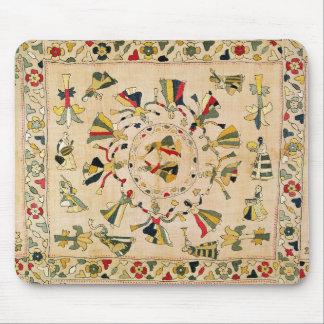 Rumal: square embroidery cover showing Punjabi dan Mouse Mat