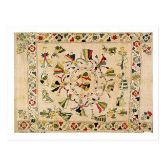 Rumal: square embroidery cover showing Punjabi dan Postcard
