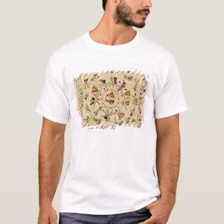 Rumal: square embroidery cover showing Punjabi dan T-Shirt