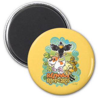 Ruman and Rupert Crest 6 Cm Round Magnet