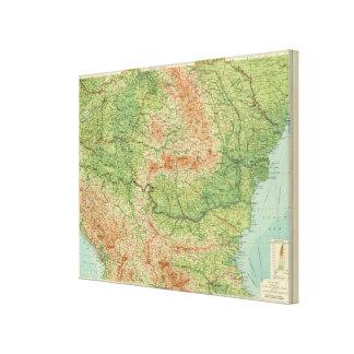 Rumania & adjacent states canvas print