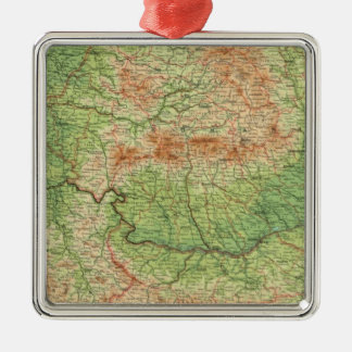 Rumania & adjacent states christmas ornament