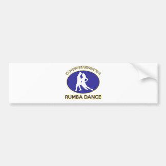 rumba design bumper stickers