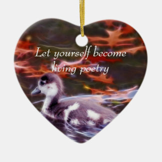 Rumi become living poetry christmas ornament