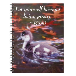 Rumi become living poetry notebooks