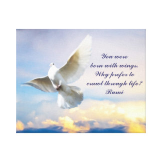 Rumi born with wings canvas prints