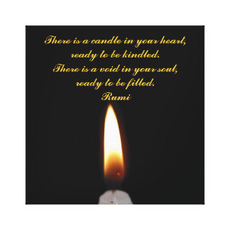 Rumi Candle in the heart Canvas Prints