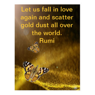 Rumi Fall in love again Postcard