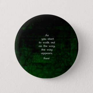 Rumi Inspirational Having Faith Quote 6 Cm Round Badge