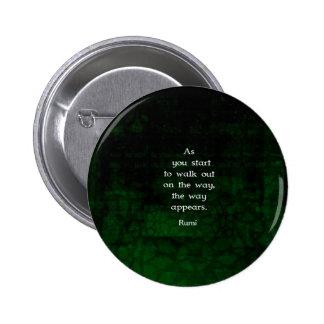 Rumi Inspirational Having Faith Quote 6 Cm Round Badge