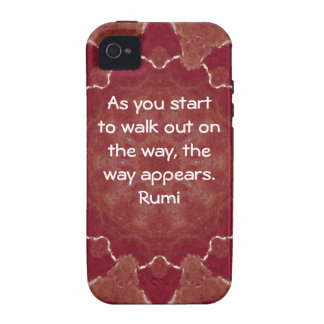 Rumi Inspirational Quotation Saying about Faith Case-Mate iPhone 4 Covers