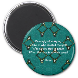 Rumi Inspirational quote With Tribal Design 6 Cm Round Magnet