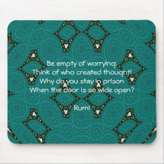 Rumi Inspirational quote With Tribal Design Mouse Mat