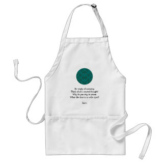 Rumi Inspirational quote With Tribal Design Standard Apron