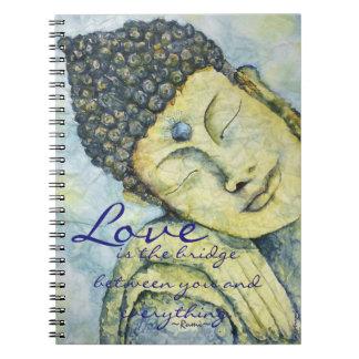 Rumi Love Quote Buddha Art journal
