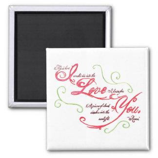 Rumi Love Quote Magnet