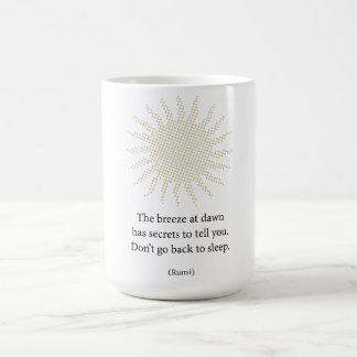 Rumi Morning Poetry Basic White Mug