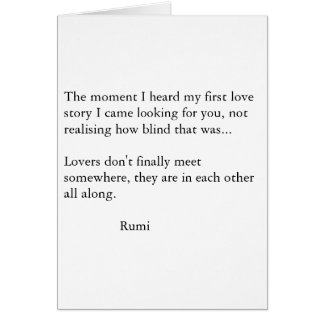 Rumi Poetry Card