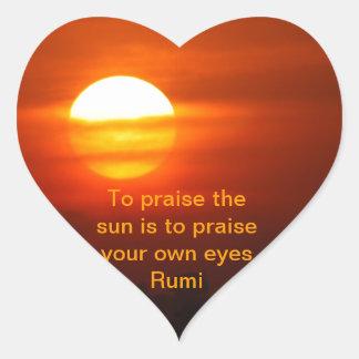 Rumi Praise the sun Stickers