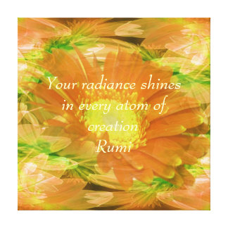 Rumi Radiance Stretched Canvas Print