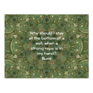Rumi Taking Action Inspirational Quotation Saying Postcard