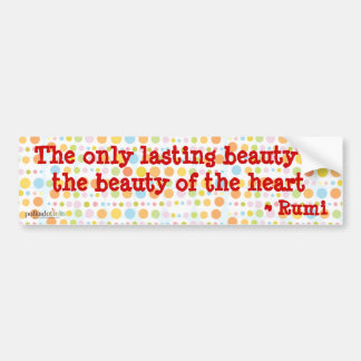 Rumi: The Only Lasting Beauty Sticker