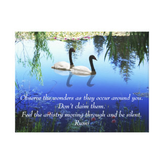 Rumi The wonders Stretched Canvas Print