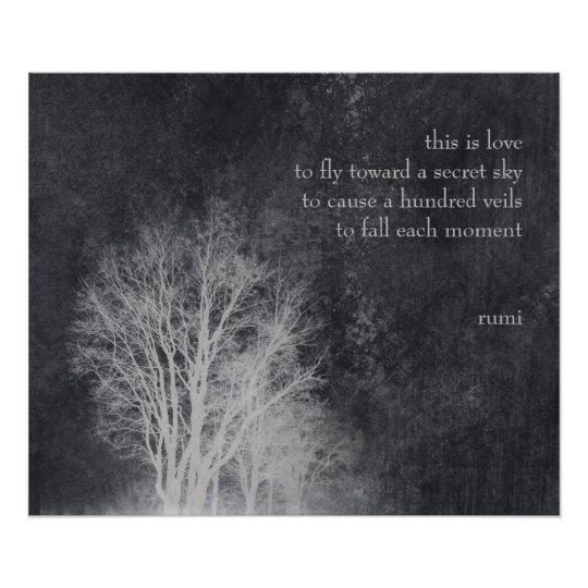 """rumi """"this is love"""" poetry quote poster"""