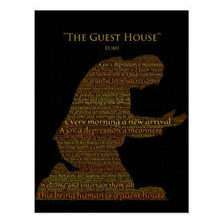 """Rumi's """"The Guest House"""" Poem Postcard"""