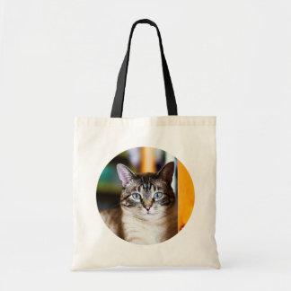 Rummy Full of Flies Siamese Cat Tote Bag