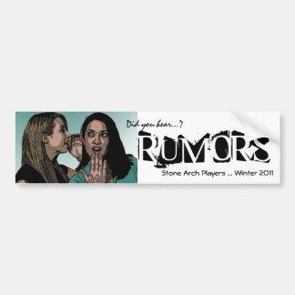 Rumor sticker bumper sticker