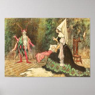 Rumpelstiltskin by Warwick Goble Print