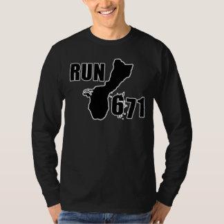 RUN671 Large Logo Outline T Shirts