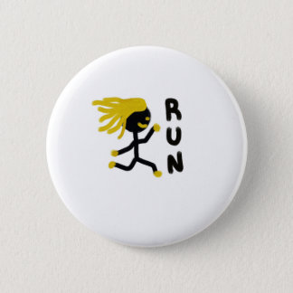 Run 6 Cm Round Badge