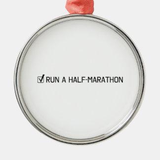 Run A Half Marathon Christmas Ornament