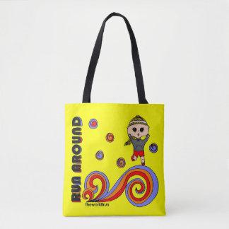Run Around! superfun shopping tote bag