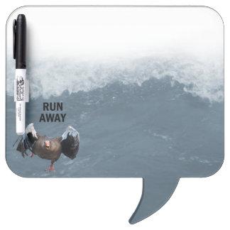 Run away dry erase whiteboard