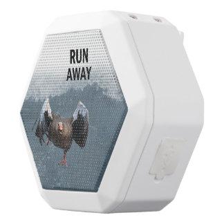 Run away white bluetooth speaker