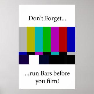 Run Bars Poster