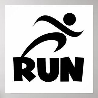 RUN Black Poster