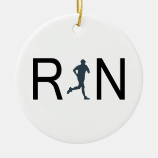 Run Christmas Ornament