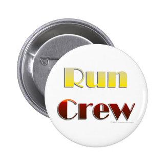 Run Crew (Text Only) 6 Cm Round Badge
