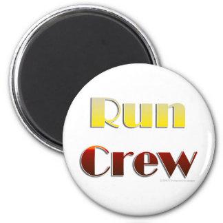 Run Crew (Text Only) 6 Cm Round Magnet