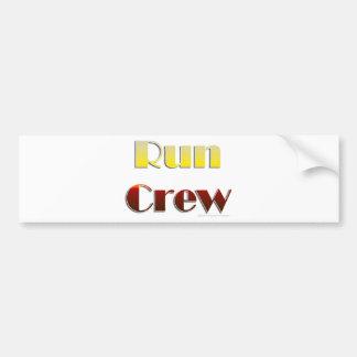 Run Crew (Text Only) Bumper Sticker
