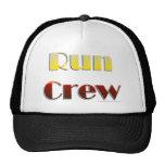 Run Crew (Text Only) Mesh Hats