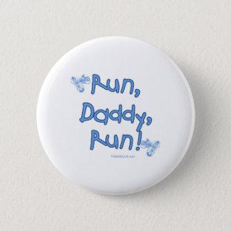 Run Daddy Run - Blue 6 Cm Round Badge
