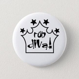Run Diva 6 Cm Round Badge