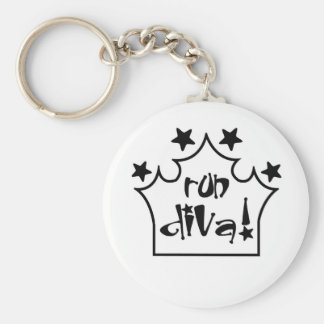 Run Diva Key Ring
