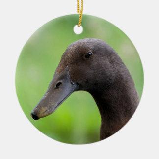 Run duck head christmas ornament